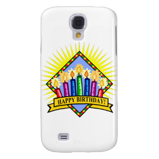 Happy Birthday Candles Galaxy S4 Cover
