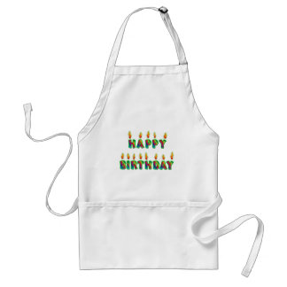 Happy Birthday Candles Cooking Apron