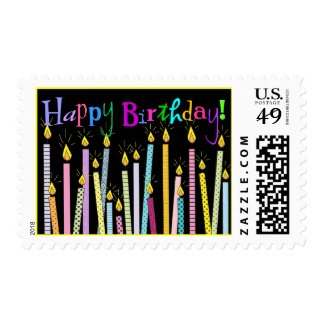 Happy Birthday Candles Galore! Postage