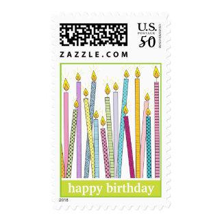 Happy Birthday Candles Galore! Postage