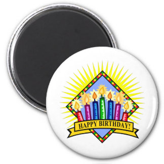 Happy Birthday Candles Magnet