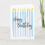 "Happy Birthday Candles - Personalize Card<br><div class=""desc"">Happy Birthday Candles - Personalize with your own special message!</div>"