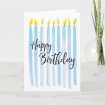 Happy Birthday Candles - Personalize Card