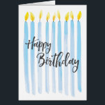 """Happy Birthday Candles - Personalize Card<br><div class=""""desc"""">Happy Birthday Candles - Personalize with your own special message!</div>"""