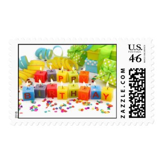 Happy Birthday Candles stamp