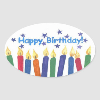 Happy Birthday Candles Stickers