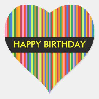 Happy Birthday Candy Stripe sticker