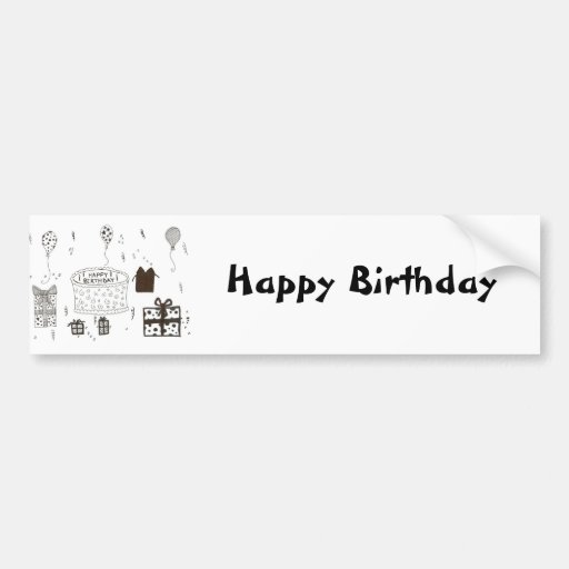 Happy Birthday Car Bumper Sticker