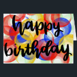 "Happy Birthday card<br><div class=""desc"">Wish them a happy birthday with fun,  bright colors!</div>"