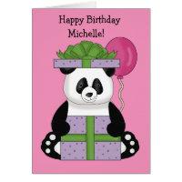 Panda happy birthday cards greeting photo cards zazzle happy birthday card bookmarktalkfo Choice Image