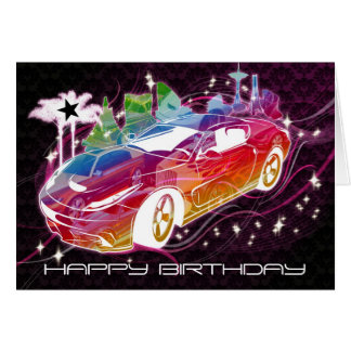 Sports Car Birthday Greeting Cards Zazzle
