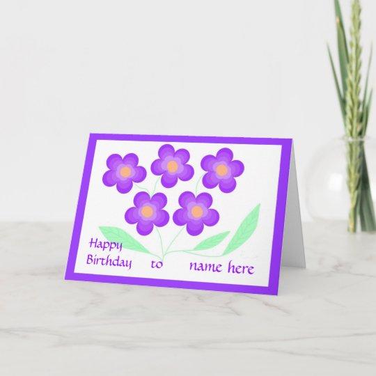 happy birthday card add name  zazzle
