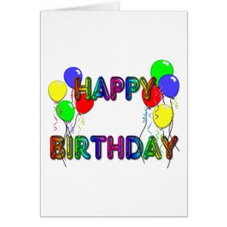 Happy Birthday Card Ballons D1