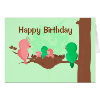 Happy Birthday Card Birds Singing