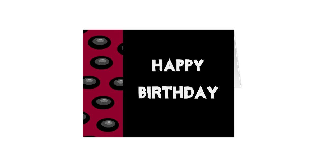 Happy Birthday card (blank inside)   Zazzle