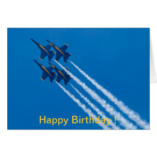 Happy Birthday card Blue Angels Diamond