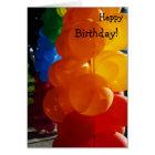 Happy Birthday Card: Bunch of Balloons Card