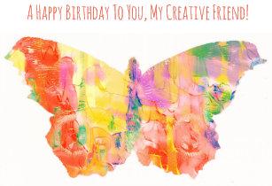Happy Birthday Card For Artist Creative Friend