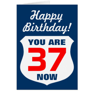 Happy Birthday card for boys and men by age / year