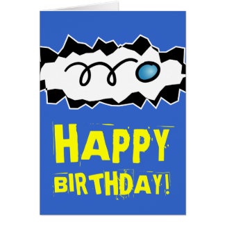 Happy Birthday card for racquetball player and fan