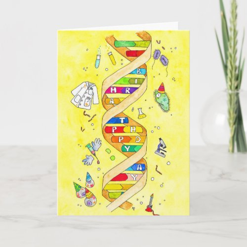 Happy Birthday card for science nerds