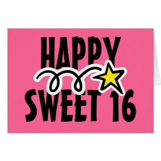 Happy Sweet Sixteen Greeting Cards Zazzle