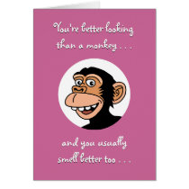 Happy Birthday Card: Funny Monkey Card