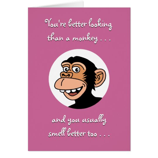 Happy Birthday Card Funny Monkey Card – Funny Monkey Birthday Cards