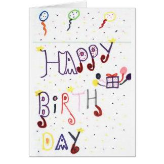 Happy Birthday Card - Handmade Kids' Drawing!
