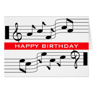 Happy Birthday Music Notes Gifts on Zazzle