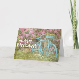 Happy Birthday Card Old Bicycle