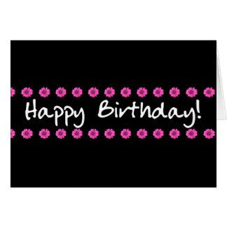 Happy Birthday Card Pink Mini Daisies
