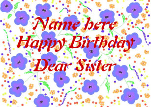 Source Dear Sister Name Birthday Cards Zazzle