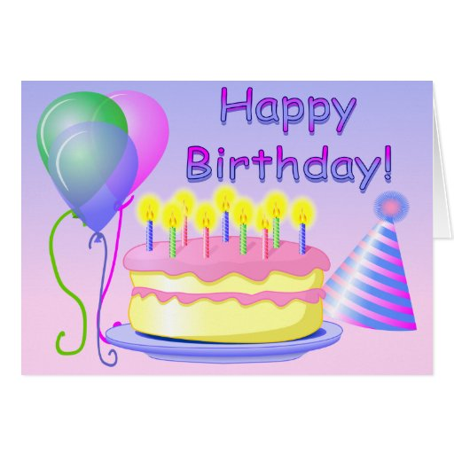 Happy Birthday Card Template | Zazzle