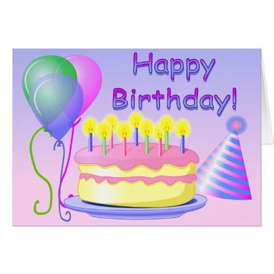 happy birthday card template  zazzle, Birthday card