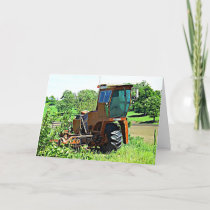 Happy BIrthday Card Tractor Photograph