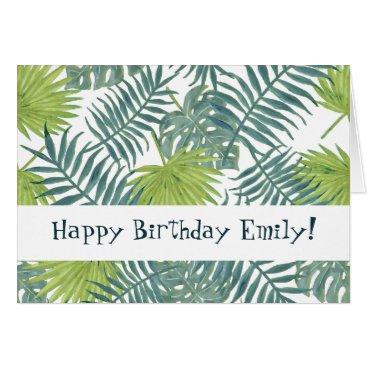 Beach Themed Happy Birthday Card Tropical Custom template