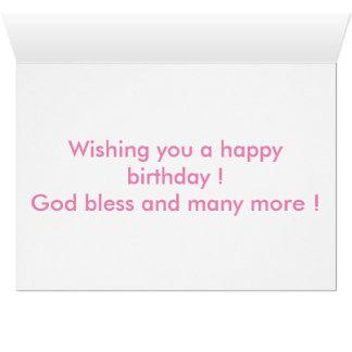 Happy Birthday Card - Tulip & cupcake