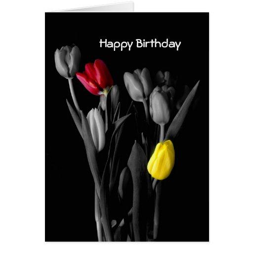 Happy Birthday Card-Tulips Card