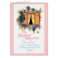 Happy Birthday Card - Vintage