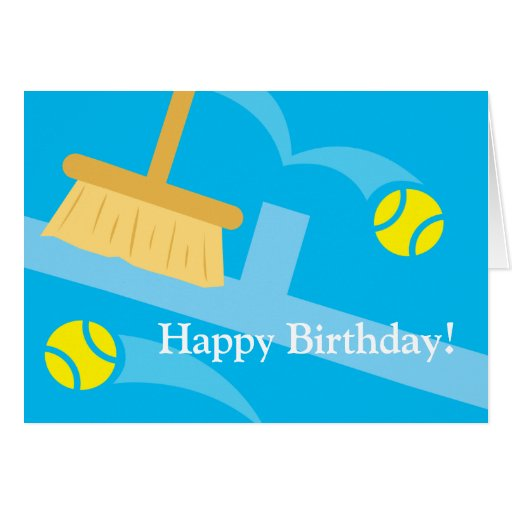 Happy Birthday Cards for tennis players