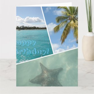 Happy Birthday Caribbean Photo Collage Card