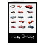 Happy Birthday cars card