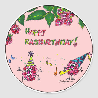 Happy Birthday Cartoon Berries Custom Sticker