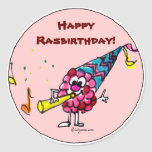 Happy Birthday Cartoon Berry Custom Stickers