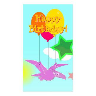 Happy Birthday Cartoon Dinosaurs Small Cards