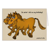Happy Birthday Cartoon Horse. Card