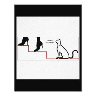"""Happy Birthday Cat 8.5"""" X 11"""" Flyer"""