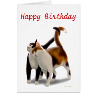 Happy Birthday Cat Friends Card