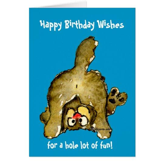 Happy Birthday Cat Greeting Card – Cat Birthday Card